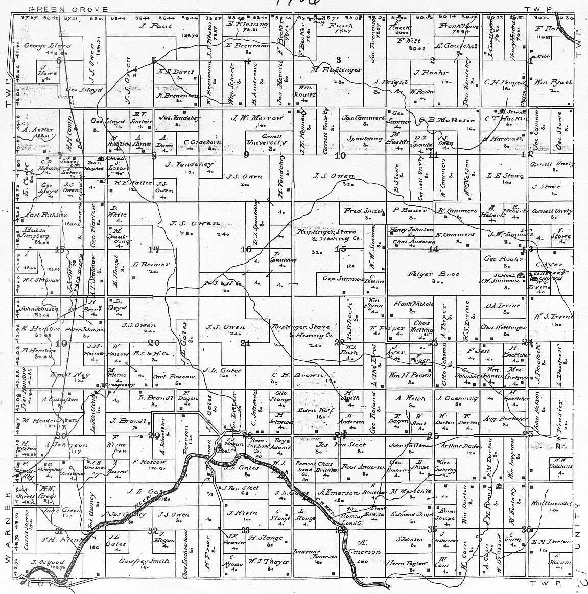 . maps of beaver township clark co wis