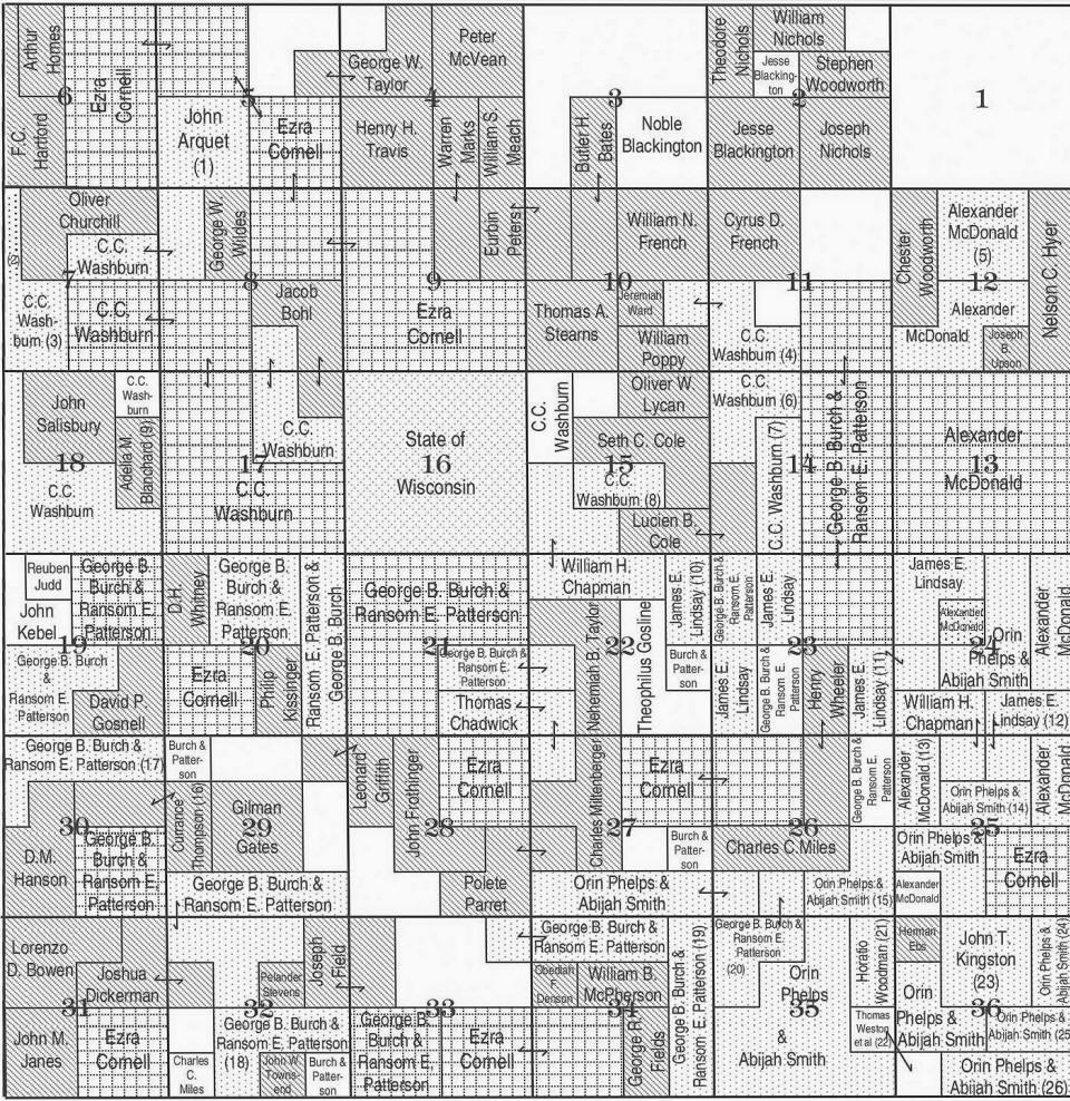 Sherman township 26n range 1e plat map clark county wisconsin sciox Gallery