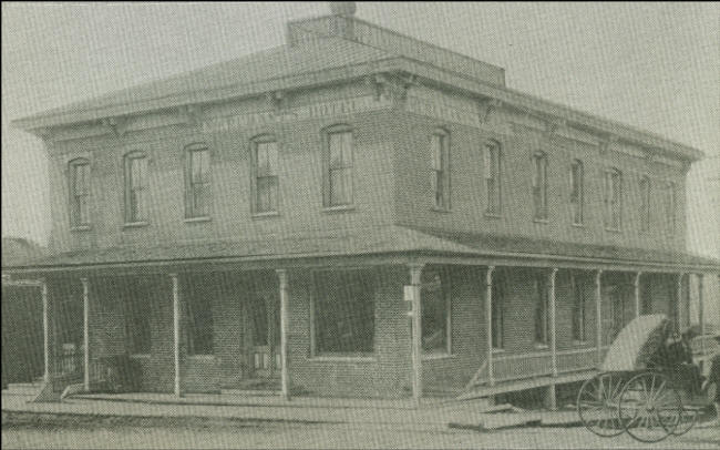 Merchants Hotel Circa 1890 1900 In Horse And Buggy Days Taken Before The West Addition With Old East Porch Still Intact As Of This Date Thanks To