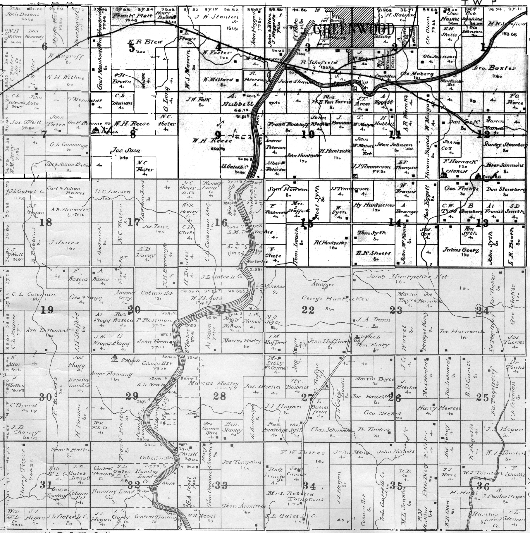 Eaton Township Clark County Plat Map Project - Chicago map by county