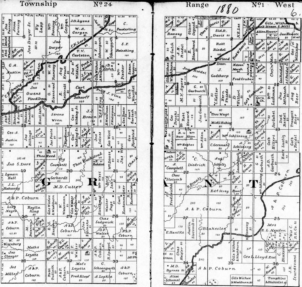 Index for grant township plat maps 1880 plat map sciox Gallery