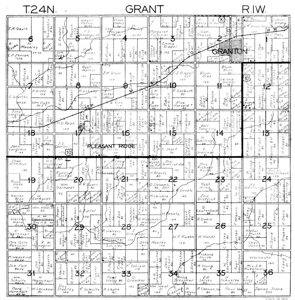 Index for grant township plat maps 1921 1929 plat map sciox Gallery