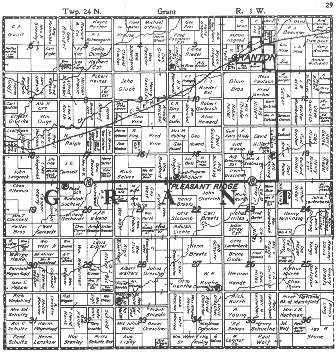 Kurth and roder schools section 15 of 1926 grant plat map sciox Gallery