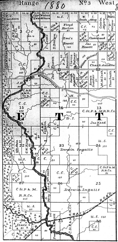 Historic Maps Transcriptions Of Hewett Township Clark Co Wi Floyd Rose Diagram 1880 Plat Map