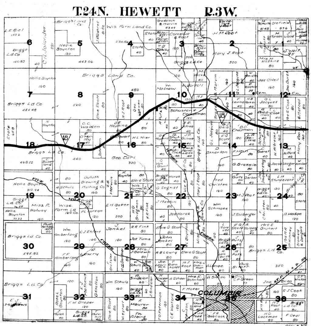 Senaca, Cranmoor and Port Edwards Townships, Wisconsin ... |Cranmoor Wood County Wisconsin Plat Map