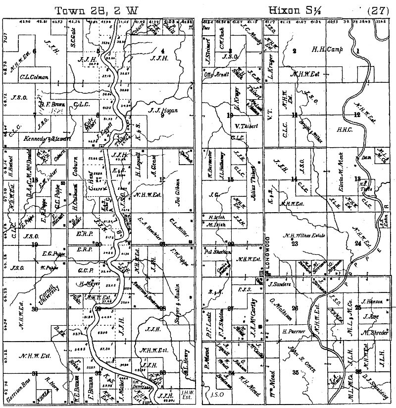 Hixon township history genealogy 1893 south plat map now different townships sciox Gallery