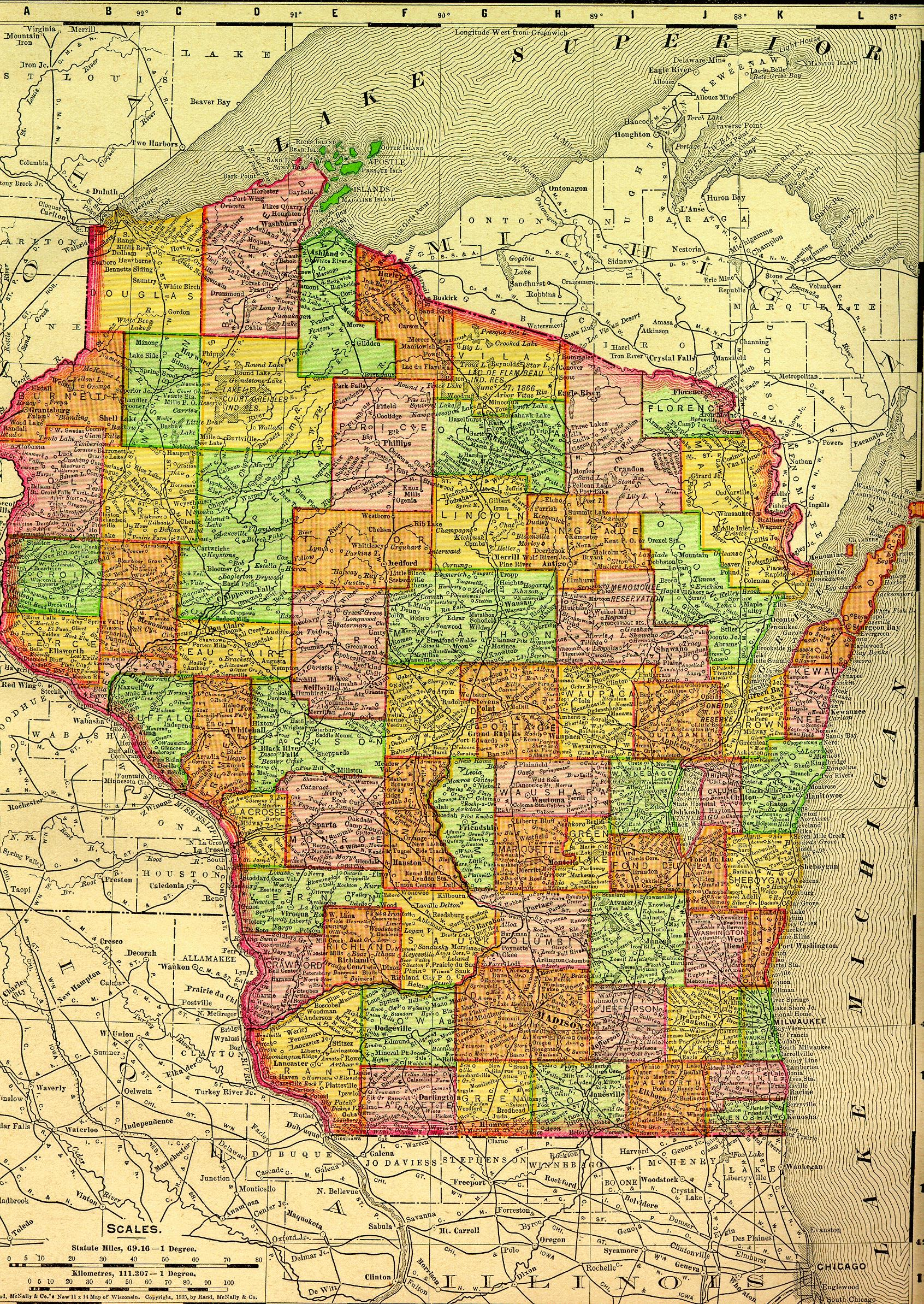 Marathon County Wisconsin Maps Gazetters Collection