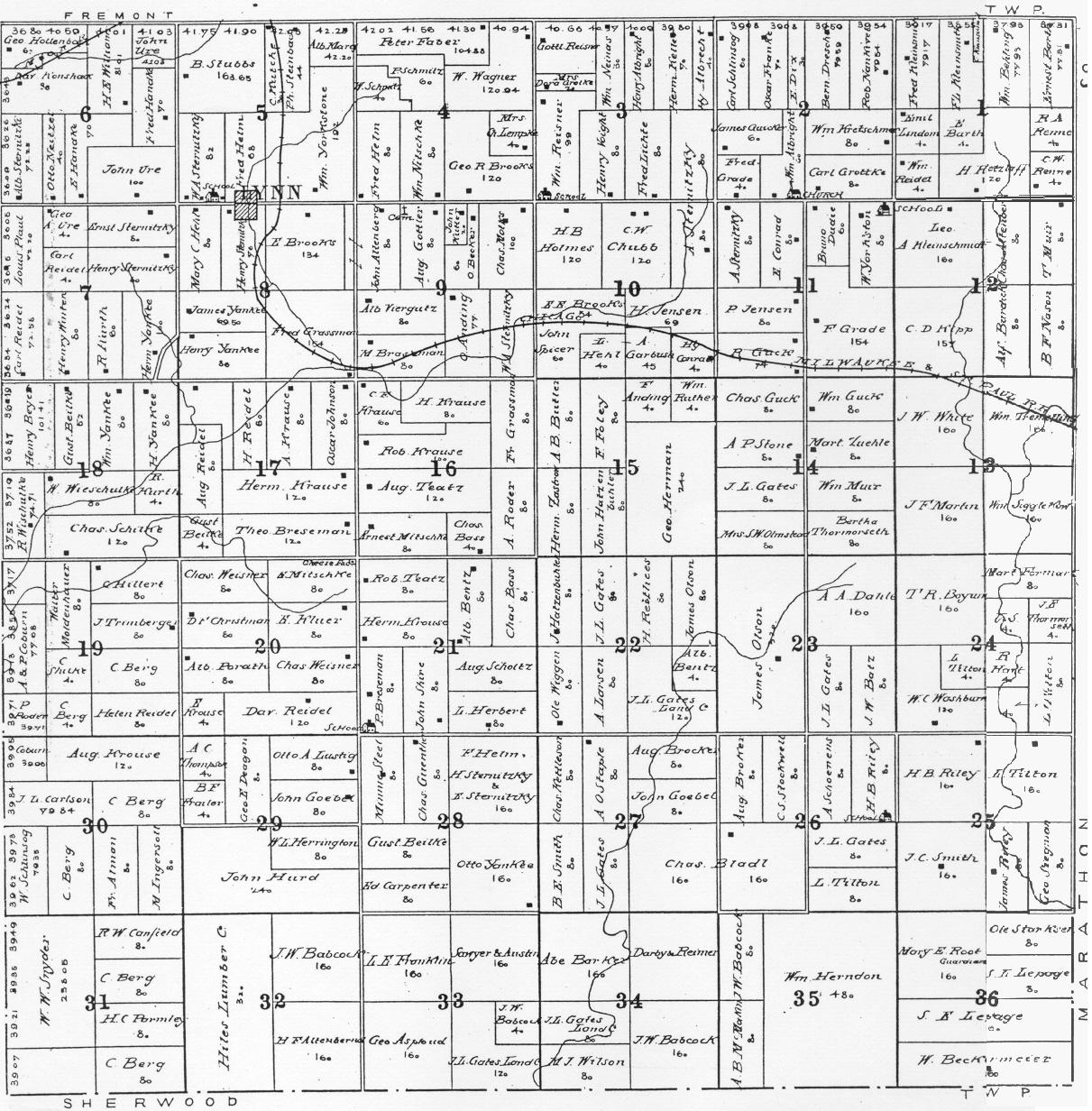 Index of clark county wisconsin maps gazetteers mayville sciox Gallery