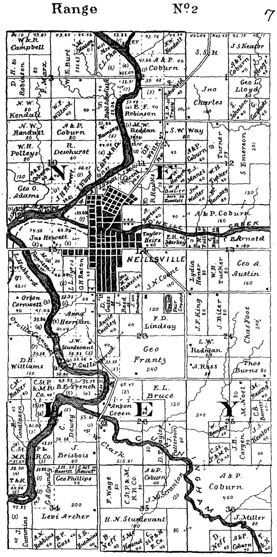 Port Edwards and Cranmoor Townships, Atlas: Wood County ... |Cranmoor Wood County Wisconsin Plat Map