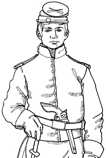 civil war solders coloring pages - photo#3